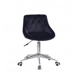 Кресло Onder Mebli Foro+Button Modern Office Бархат Черный B-1011