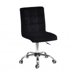 Кресло Onder Mebli Augusto CH-Office Бархат Черный B-1011