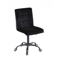 Кресло Onder Mebli Augusto BK-Office Бархат Черный B-1011