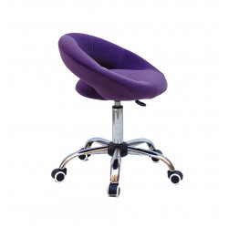 Кресло офисное Onder Mebli Holy BK-Office Бархат Пурпурный B-1013