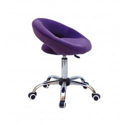 Крісло офісне Onder Mebli Holy BK-Office Оксамит Пурпурний B-1013