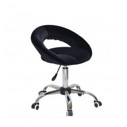 Кресло офисное Onder Mebli Holy BK-Office Бархат Черный B-1011