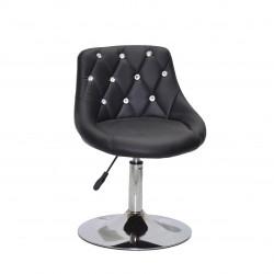 Крісло із стразами Onder Mebli Foro+SV СН- Base Екошкіра Чорна
