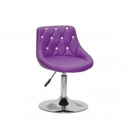 Крісло із стразами Onder Mebli Foro+SV СН- Base Екошкіра Пурпурна