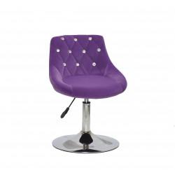 Крісло із стразами Onder Mebli Foro+SV СН- Base Оксамит Пурпурний B-1013