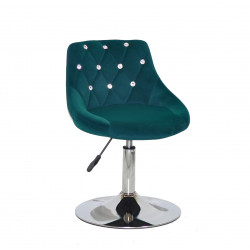 Крісло із стразами Onder Mebli Foro+SV СН- Base Оксамит Зелений B-1003
