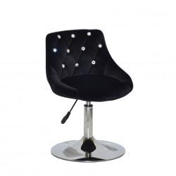 Крісло із стразами Onder Mebli Foro+SV СН- Base Оксамит Чорний B-1011
