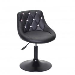 Крісло із стразами Onder Mebli Foro+SV BK- Base Екошкіра Чорна