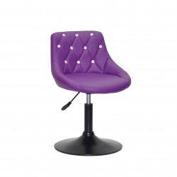 Крісло із стразами Onder Mebli Foro+SV BK- Base Екошкіра Пурпурна