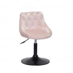 Крісло із стразами Onder Mebli Foro+SV BK- Base Оксамит Рожевий B-1021