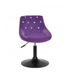 Крісло із стразами Onder Mebli Foro+SV BK- Base Оксамит Пурпурний B-1013