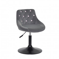 Крісло із стразами Onder Mebli Foro+SV BK- Base Оксамит Сірий B-1004