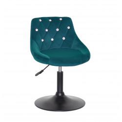 Крісло із стразами Onder Mebli Foro+SV BK- Base Оксамит Зелений B-1003