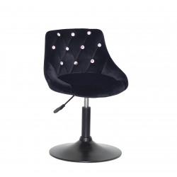 Крісло із стразами Onder Mebli Foro+SV BK- Base Оксамит Чорний B-1011