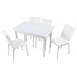 Обідній комплект білий без малюнка Лотос-М
