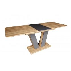 Стол обеденный Torino 140-180 блэквуд ячменной /графит Intarsio