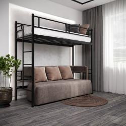 Ліжко-горище Дабл Метал-дизайн