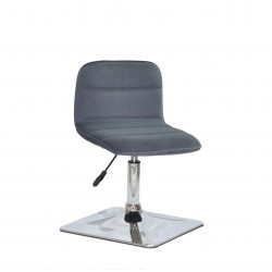 Крісло для салону краси Onder Mebli Real 4 CH-Base Оксамит Сірий B-1004