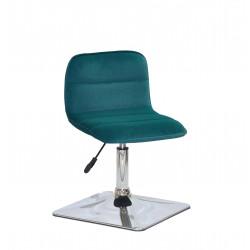 Крісло для салону краси Onder Mebli Real 4 CH-Base Оксамит Зелений B-1003