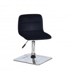Крісло для салону краси Onder Mebli Real 4 CH-Base Оксамит Чорний B-1011