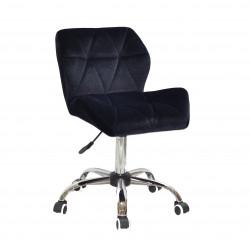 Крісло офісне Onder Mebli Paris CH-Office Оксамит Чорний В-1011