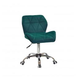 Крісло офісне Onder Mebli Paris CH-Office Оксамит Зелений В-1003