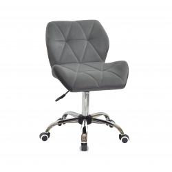 Крісло офісне Onder Mebli Paris CH-Office Оксамит Сірий В-1004