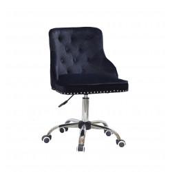Кресло Onder Mebli Olimp CH-Office Бархат Черный В-1011