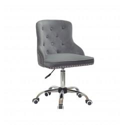 Крісло Onder Mebli Olimp CH-Office Оксамит Сірий В-1004