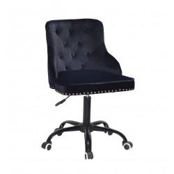 Кресло Onder Mebli Olimp BK-Office Бархат Черный В-1011