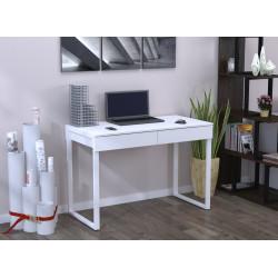 Білий стіл письмовий з ящиками L-11 Loft design