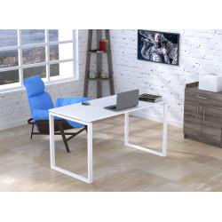 Белый стол без царги Q-135 Loft design