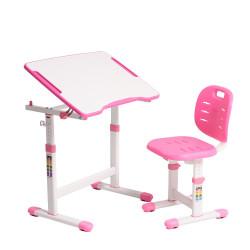 Комплект парта и стул-трансформеры Omino Pink FunDesk