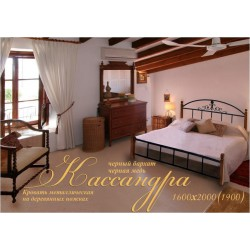 Кровать Касандра на деревянных ножках Металл-Дизайн