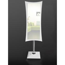 Дзеркало фігурне підлогове на основі ЛДСП Art-com N2 Білий