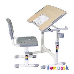 Комплект парта и стул-трансформеры Piccolino II Grey FunDesk