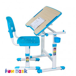 Комплект парта и стул-трансформеры Piccolino II Blue FunDesk