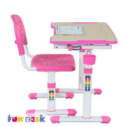 Комплект парта и стул-трансформеры Piccolino II Pink FunDesk