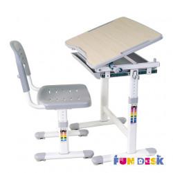 Комплект парта и стул-трансформер Piccolino Grey FunDesk