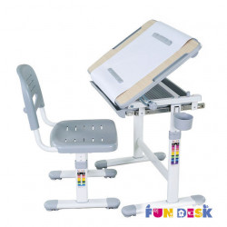 Комплект парта и стул-трансформеры Bambino Grey FunDesk