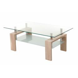 Журнальный столик С-107-2 (белый дуб) Vetro Mebel