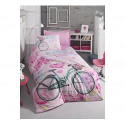 Постельное белье Bike pembe Cotton Box