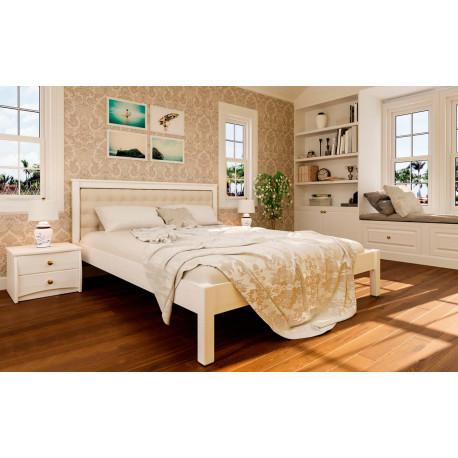 Кровать с мягим изголовьем Модерн ЧДК