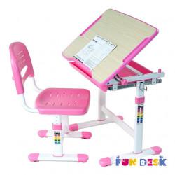 Комплект парта и стул-трансформеры Piccolino Pink FunDesk