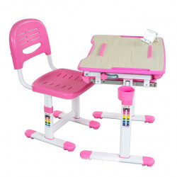 Комплект парта и стул-трансформеры Bambino Pink FunDesk