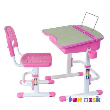 Комплект парта и стул-трансформер Capri Pink FunDesk