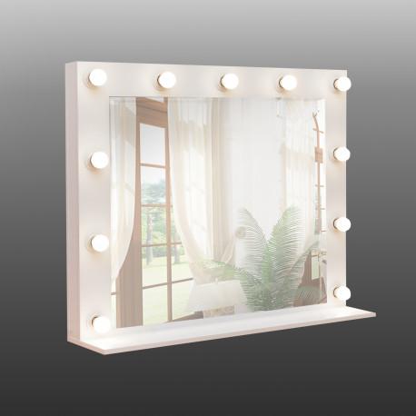 Зеркало для макияжа Hollywood Big Art-com Белое