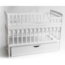 Детская кроватка-трансформер с ящиком DeSon DS1-01 (белый)
