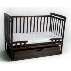 Детская кроватка-трансформер с ящиком DeSon DS1-04 (орех)