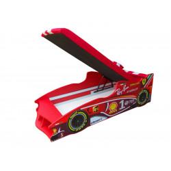 Кровать с подъемным механизмом+матрас Viorina-Deko Formula 1 Ray-Ban Красный